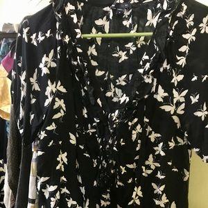Gap butterfly blouse